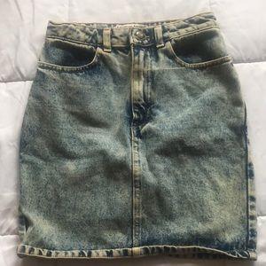 Acid wash American Apparel skirt